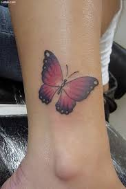 Awesome Ankle Tattoo Of 3d Butterfly Golfiancom