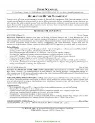Simple Retail Manager Resume Australia Retail Sample Resume