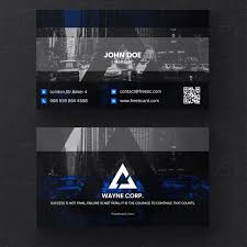 Free Psd Business Card Templates Psd Blue And Black Business Card Template Psd Free Download