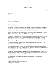 Job Offer Letter Of Intent Job Offer Letter Of Intent For
