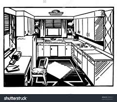 2 Piece Retro Kitchen Retro Kitchen 2 Clip Art Stock Vector 59887237 Shutterstock