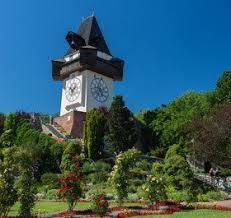 Grazer Uhrturm Glockenturm Als Wahrzeichen Von Graz