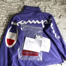 Light Purple Champion Shirt Supreme 18ss Champion Track Jacket Light Purple