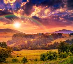Image Autumn Nature Rainbow Sky Fields Forests Landscape Photography