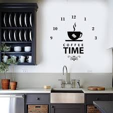 relax time wall decal clock coffee