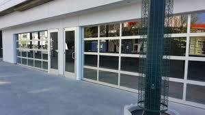 commercial glass garage door with top commercial glass garage