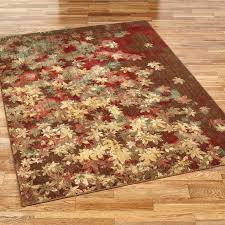 reminiscent of a pathway strewn with fallen leaves the area rug brings appeal autumn to your
