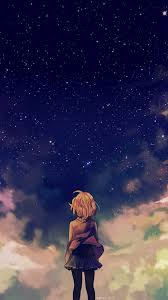 anime wallpaper iphone 6 plus. Simple Wallpaper Starry Space Illust Anime Girl IPhone 6 Wallpaper In Wallpaper Iphone Plus N