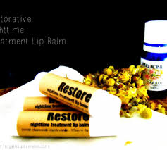diy restorative nighttime treatment lip balm