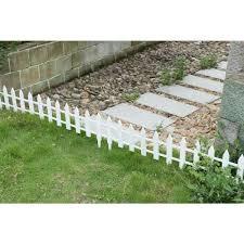 gardenised 12 in h white vinyl garden