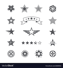 Logos With Stars Star Icons And Logos Collection Set Icons