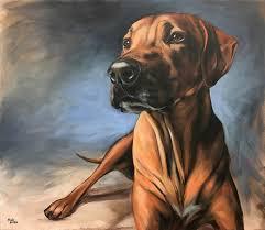 commissioned dog portrait emma rhodesian ridgeback 2016 acrylic on