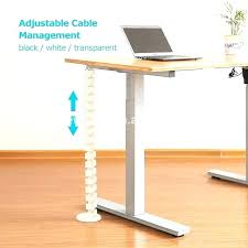 desk cable management tray with under height adjule thread organizer ikea organi