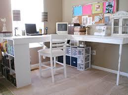 work desk ideas white office. Interior, Feminine Office Decor White Wall Mounted Light Brown Wood Floor Tile Black Silver Chair Work Desk Ideas R
