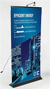 Retractable Display Stands Economy Banner Stand Affordable Custom Trade Show Graphics 47