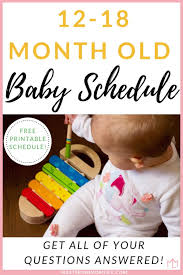 12 To 18 Months Baby Food Chart The Complete Perfect 12 18 Month Old Baby Schedule Free