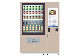 Refrigerated Vending Machines For Sandwiches Cool Chilled Salad Vending Machine For Nutrition Fruit Vegetable