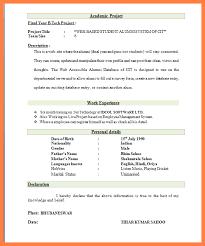 Curriculum Vitae Format For Freshers Pdf Filename Guatemalago