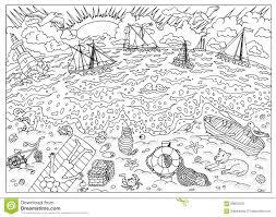 Page De Livre De Coloriage Plage Apr S Temp Te Illustration De