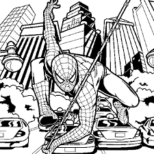 Quick Spider Man Colouring Pages Print Download Spiderman Coloring
