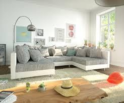 Wohnlandschaft Clovis Weiss Hellgrau Modulares Sofa