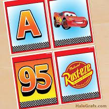 Free Cars Printables Free Printable Disney Cars Alphabet Banner Pack
