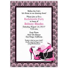Pretty Pumps Bachelorette Invitations