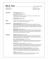 College Student Graduate Resume Example