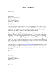 Cover Letter Cover Letter Examples For Admin Jobs Cover Letter