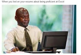 When You Lie On Your Resume About Being Proficient In Excel -  Jobs/Vacancies - Nigeria