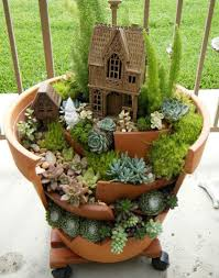 decoration: Best Exterior House To Decorate Deck With Creative Flower Pots  Made Of Soil Material