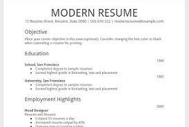google resume format