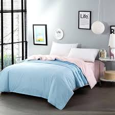 cotton sky blue jade solid color two sided single quilt cover bedding duvet 4 size bed single panel duvet cover