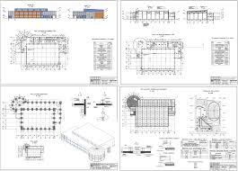 Курсовые и дипломные проекты общественное здание скачать dwg  Курсовой проект Спортивный центр 61 4 х 36 7 м в г