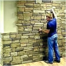 fake stone wall tile faux panels shower menards