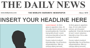 School Newspaper Layout Template Newspaper Headline Template Microsoft Word Free Newspaper Template