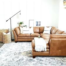 awesome camel color leather sofa in modern house with colored chair couch