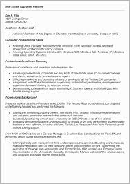 Commercial Real Estate Appraiser Sample Resume Cool Real Estate Appraiser Resume Examples Free Download