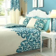 bella lux fine linens bedding set in cream and teal bella lux fine linens queen comforter