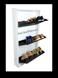 mild steel wall mounted shoe rack size