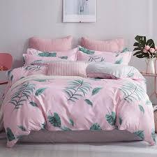 green leaf pattern home textile cartoon polar bear bedding sets children s beddingset bed linen duvet cover bed sheet pillowcase california king bedding