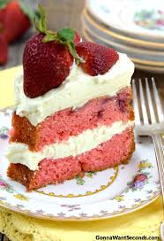 slice of strawberry cake. Fine Slice A Slice Of Strawberries And Cream Cake On A Colorful Dessert Saucer In Slice Of Strawberry
