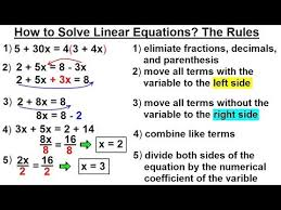 to solve linear equations