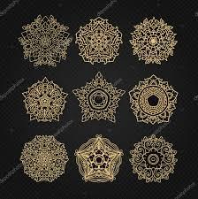 набор из круговой украшения эскизы для тату графического тайский