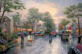 carmel sunset on ocean avenue limited edition art the thomas kinkade company