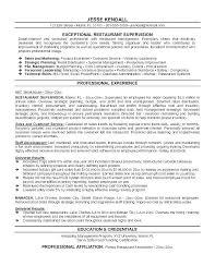 Restaurant Manager Resume Objective Restaurant Manager Resume Dokohoru Info