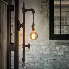 industrial contemporary lighting. Industrial Style Pipe 1 Light Wall Lamp Beautifulhalo Pertaining To Lighting Decor Contemporary I