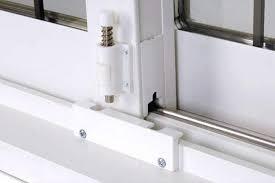 white sliding patio door locks