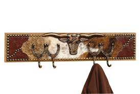 Western Coat Rack Cowboy Coat Racks Longhorn Cowhide Coat RackLone Star Western Decor 1