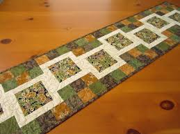 Quilted Table Runner Stepping Blocks on Luulla & Quilted Table Runner Stepping Blocks Adamdwight.com